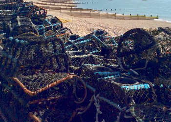Web Placeholder Lifeboat station with lobster pots